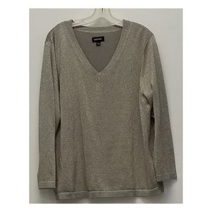 Size 18-20 Avenue pewter silver  sparkle sweater